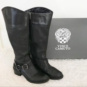 Vince Camuto Brunah Smooth Calf Black Boots
